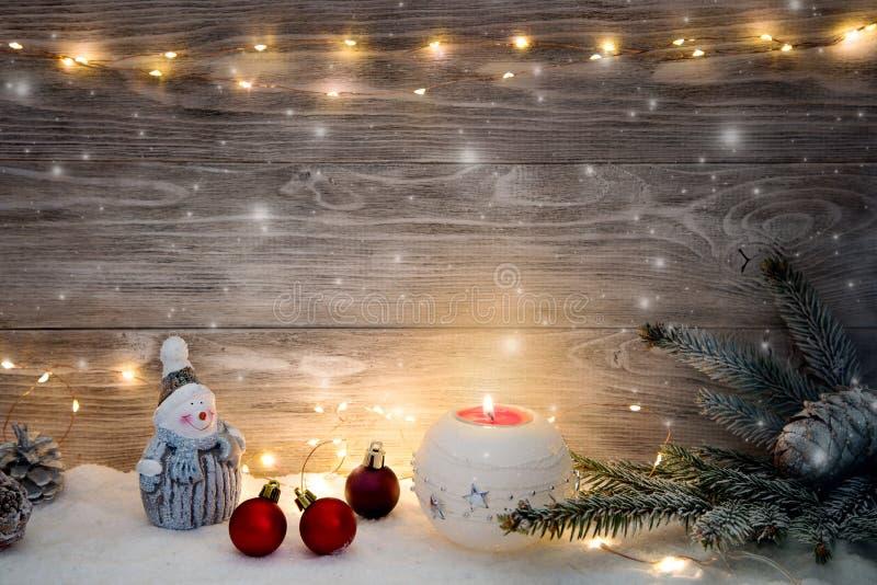 Imagem com decorações do Natal imagens de stock royalty free