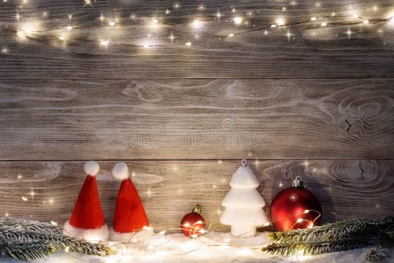 Imagem com decorações do Natal fotografia de stock royalty free