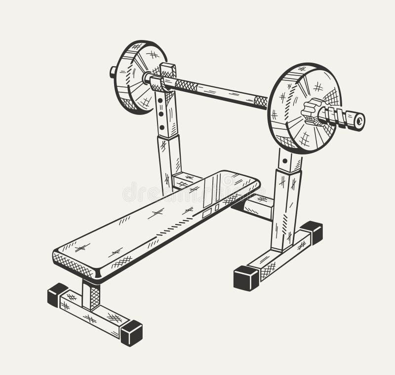 A imagem com ilustração do instrumento do treinamento fotografia de stock