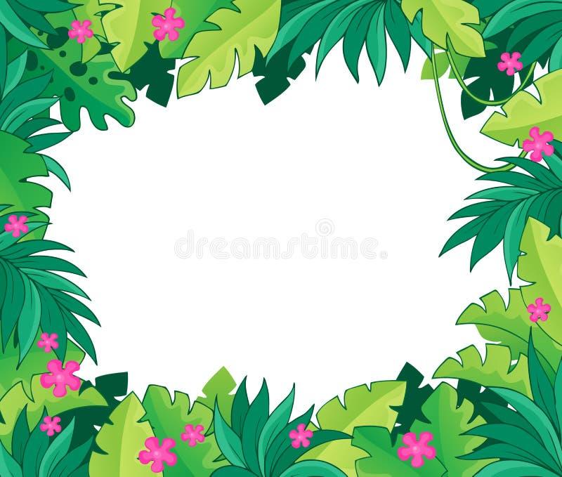 Imagem com tema 1 da selva ilustração royalty free