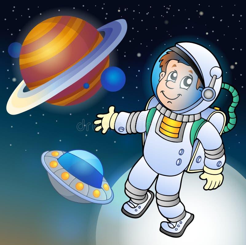 Imagem com tema 1 do espaço ilustração royalty free