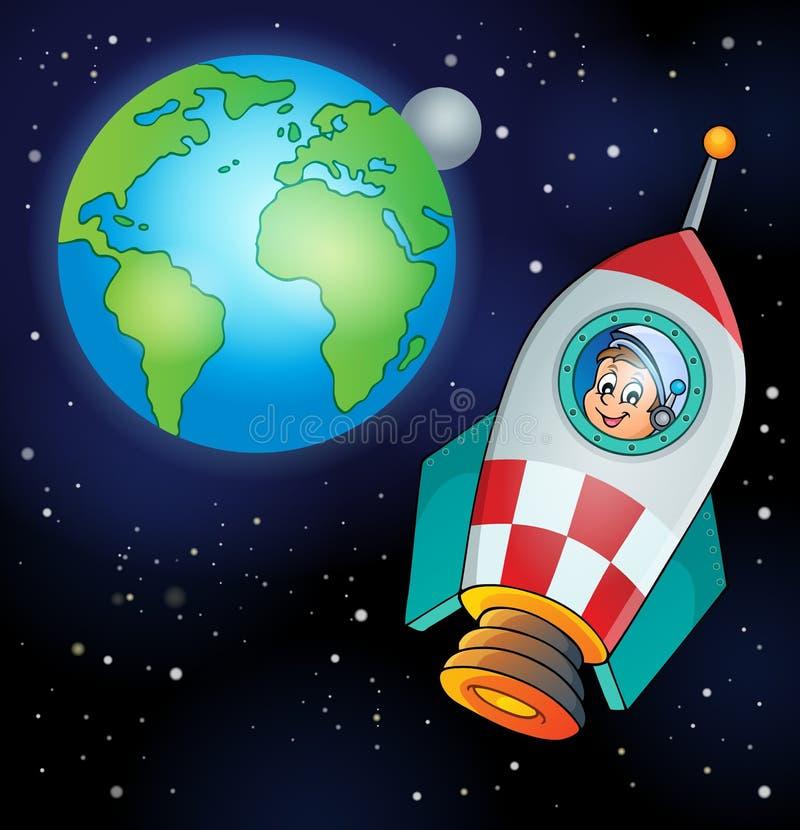 Imagem com tema 4 do espaço ilustração do vetor