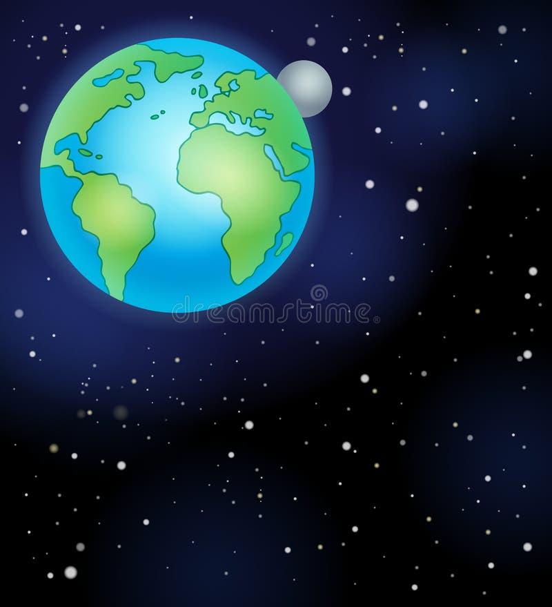 Imagem com tema 5 do espaço ilustração do vetor