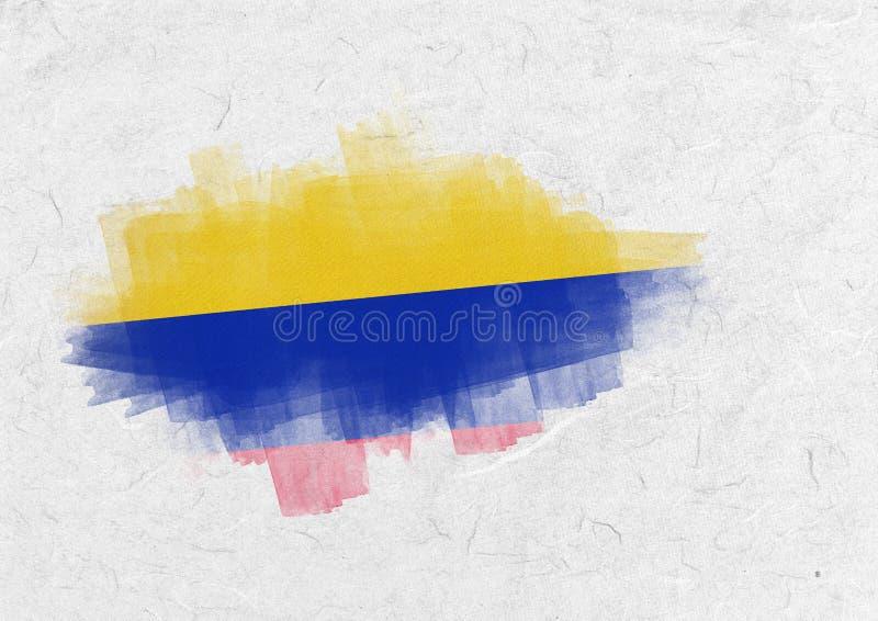 Imagem composta da bandeira nacional de Colômbia ilustração do vetor