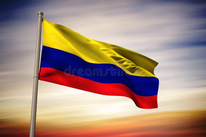 Imagem composta da bandeira nacional de Colômbia ilustração royalty free