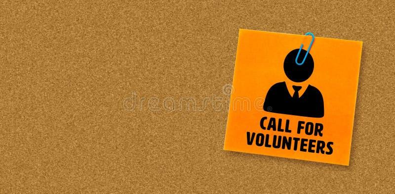 Imagem composta da chamada para voluntários ilustração do vetor