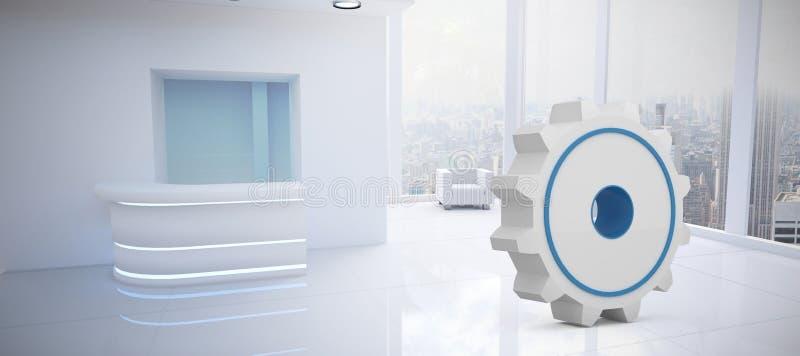 Imagem composta da imagem conceptual do símbolo da engrenagem ilustração stock