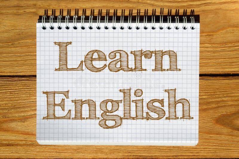 A imagem composta da imagem digital do inglês Learn text ilustração stock