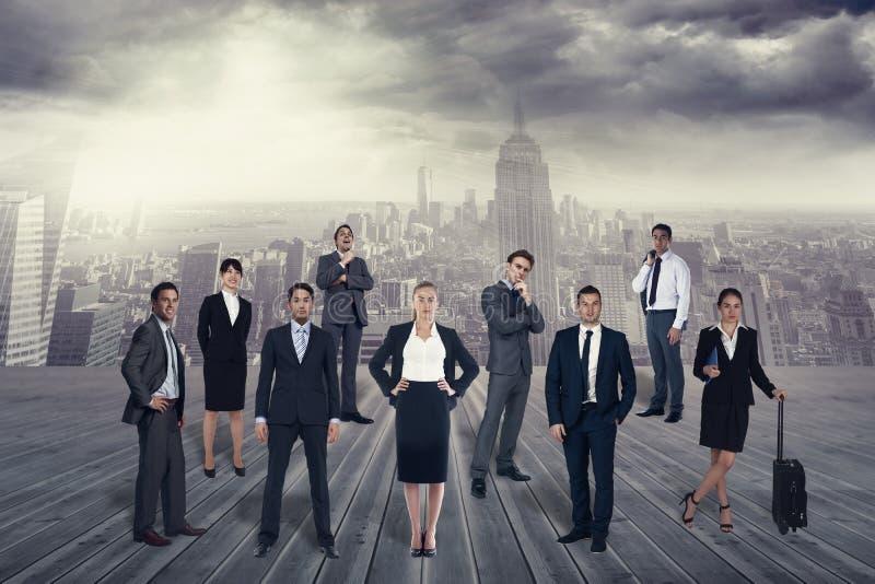 Imagem composta da equipe do negócio imagem de stock royalty free