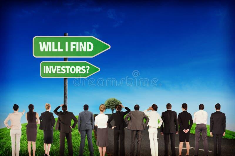 Imagem composta da equipe do negócio imagens de stock