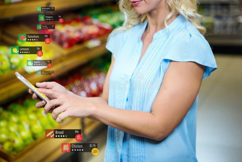 Imagem composta da etiqueta de preço dos alimentos fotos de stock royalty free