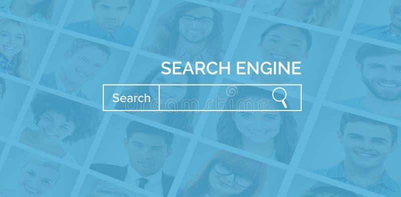 Imagem composta da imagem gráfica da página vermelha do Search Engine ilustração stock