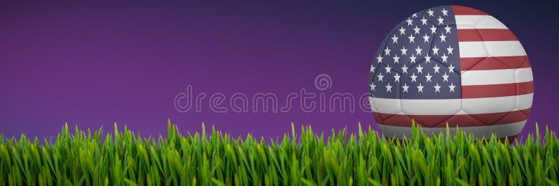 Imagem composta da grama que cresce fora ilustração do vetor