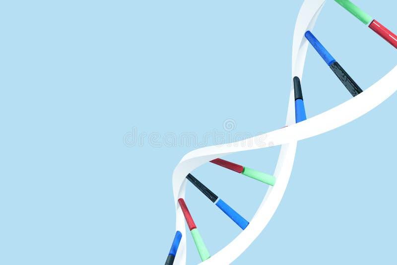 Imagem composta da imagem da hélice do ADN ilustração stock