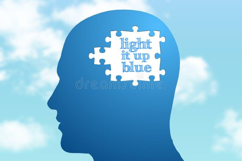 Imagem composta da luz ele acima do azul ilustração royalty free