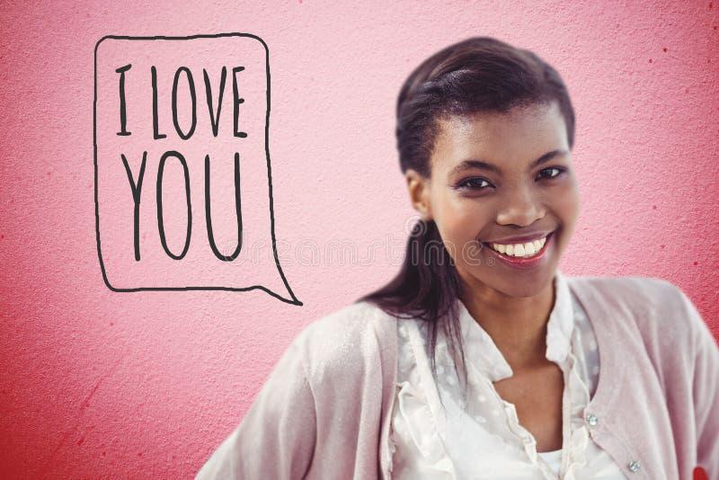 Imagem composta da mulher de negócio crestive de sorriso imagem de stock