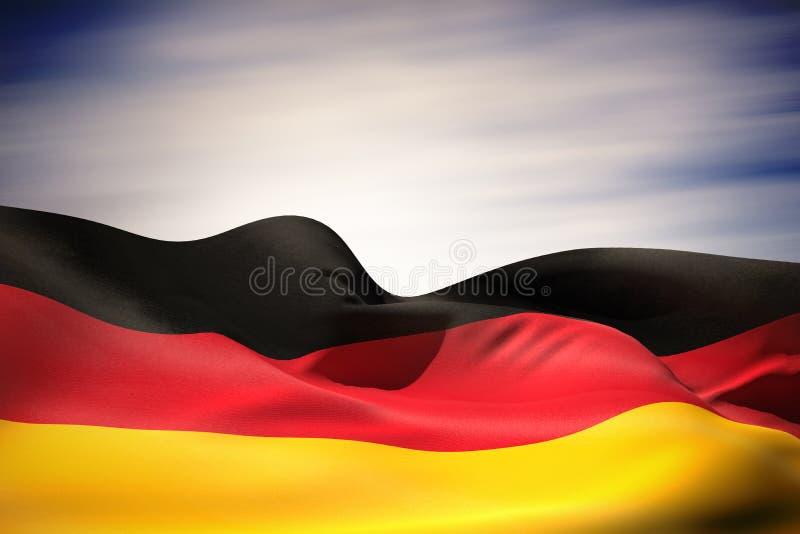 Imagem composta da ondulação da bandeira de Alemanha ilustração royalty free