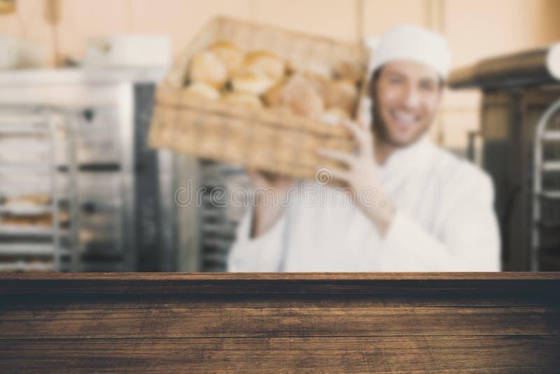 Imagem composta da opinião de ângulo alto do revestimento de madeira fotografia de stock