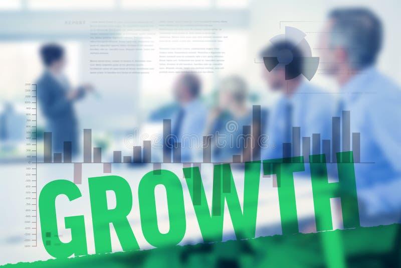 Imagem composta da relação do negócio com gráficos e dados foto de stock royalty free