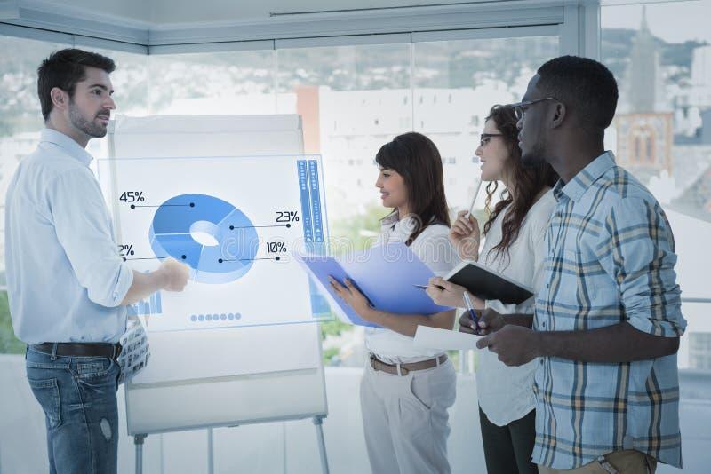 Imagem composta da relação do negócio global fotos de stock