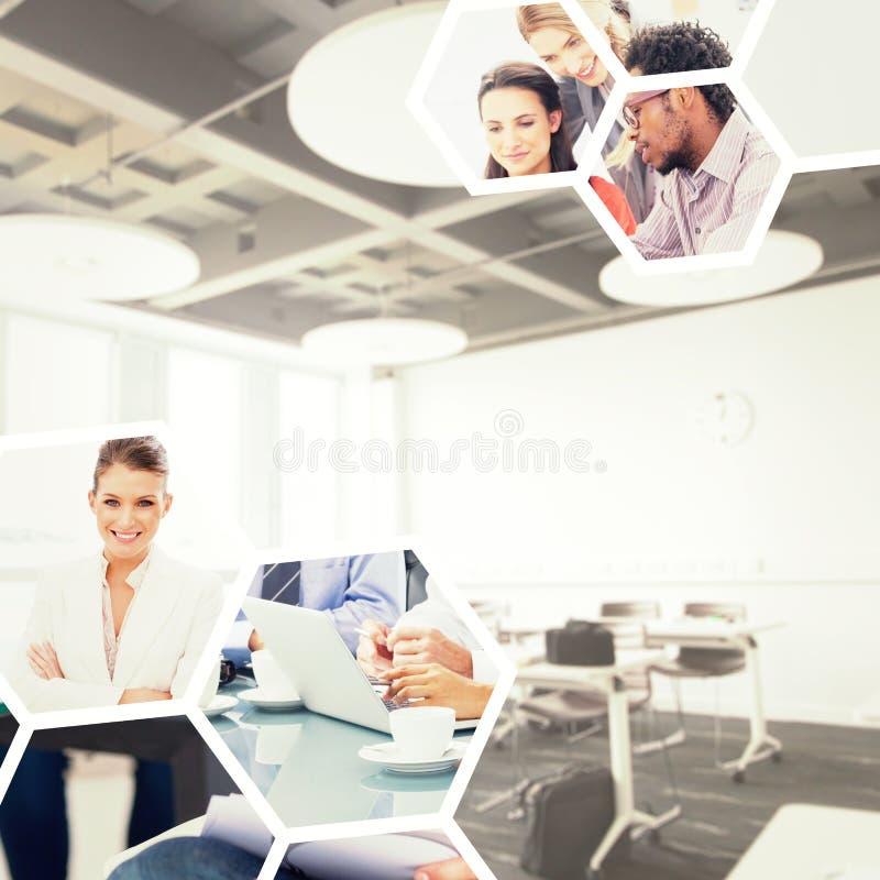 Imagem composta da sala de aula da faculdade ilustração do vetor