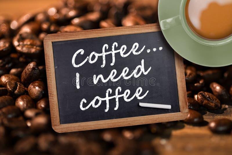 Imagem composta da xícara de café verde foto de stock royalty free