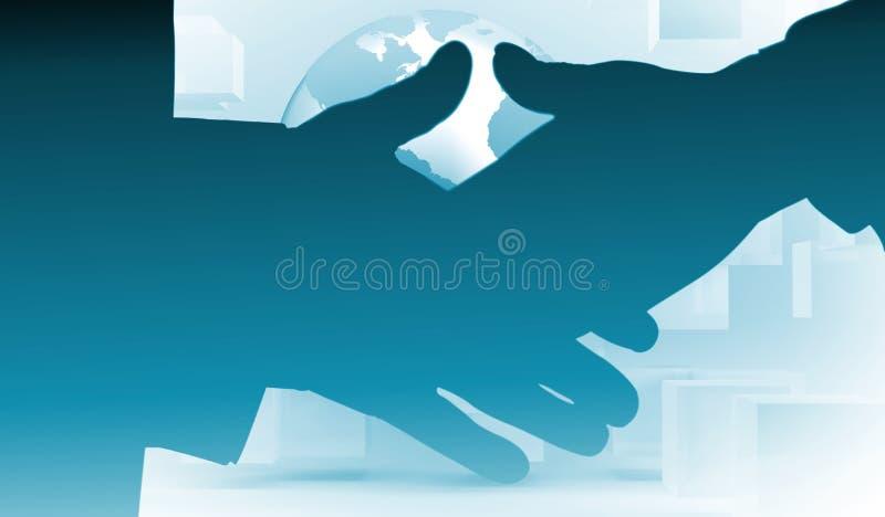 Imagem composta de dois povos que vão agitar suas mãos ilustração royalty free