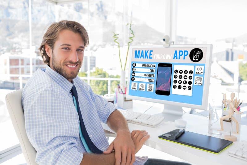 A imagem composta de faz seu pr?prio smartphone do app fotografia de stock royalty free