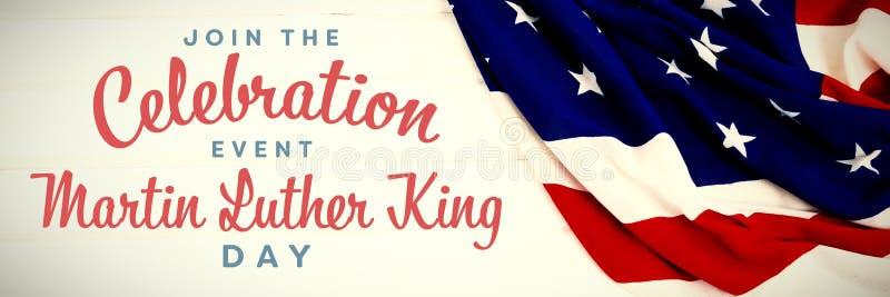 Imagem composta de para juntar-se ao dia de Martin Luther King do evento da celebração imagens de stock