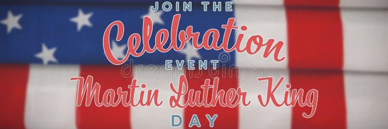 Imagem composta de para juntar-se ao dia de Martin Luther King do evento da celebração fotografia de stock royalty free