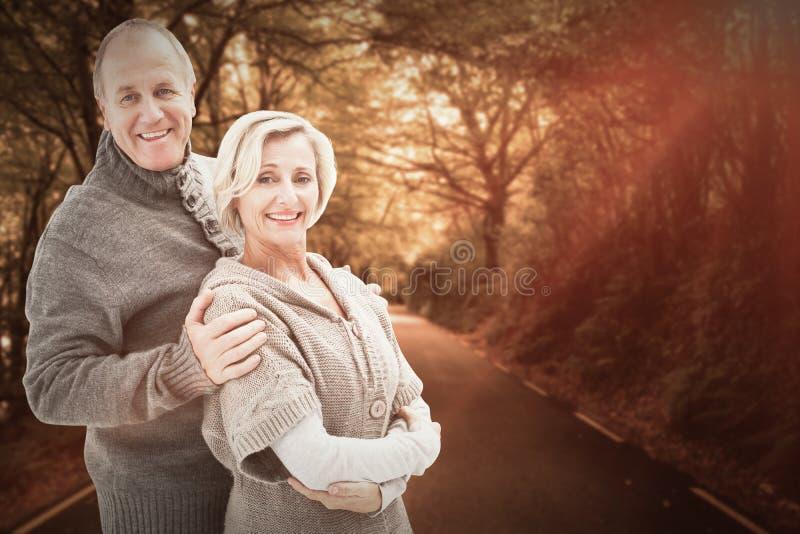 Imagem composta de pares maduros do inverno imagem de stock royalty free