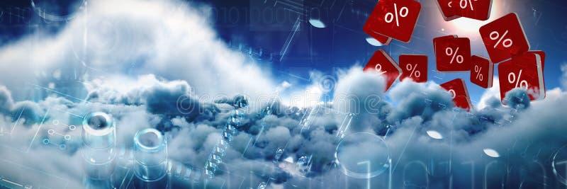 Imagem composta do ícone do vetor do sinal de por cento imagem de stock