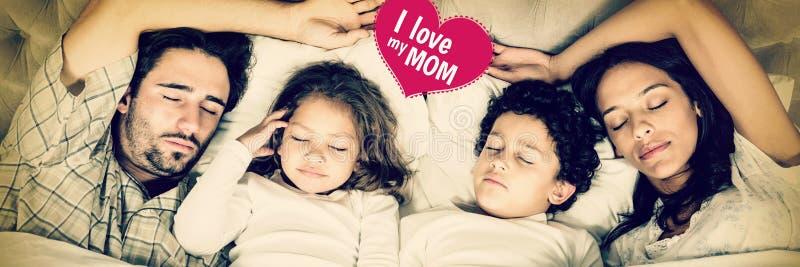 Imagem composta do cumprimento do dia de mães imagens de stock
