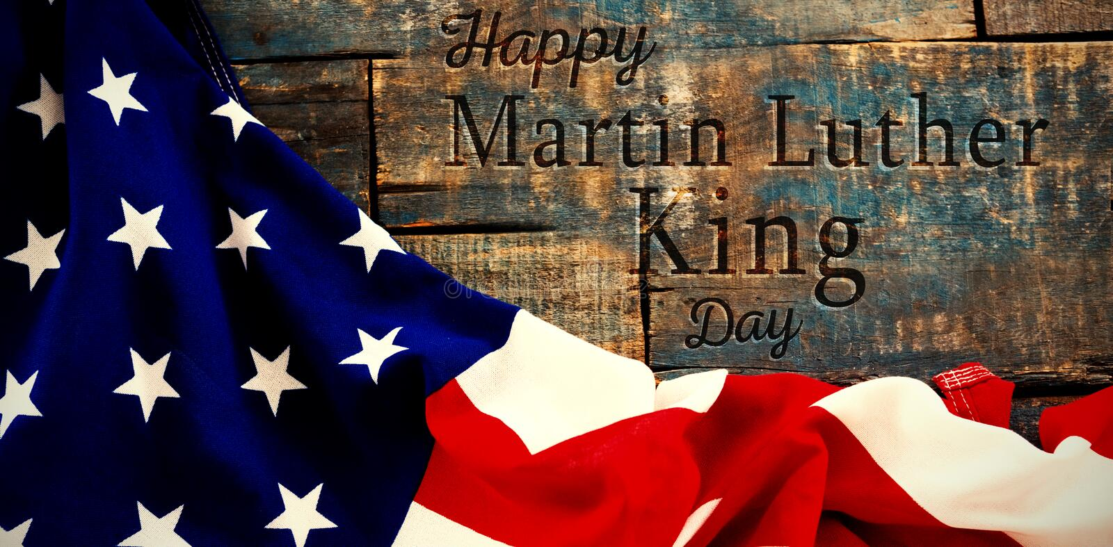 Imagem composta do dia feliz de Martin Luther King foto de stock royalty free