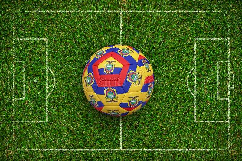 Imagem composta do futebol em cores de Equador ilustração do vetor