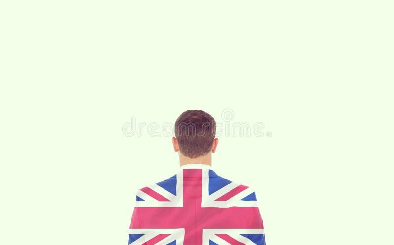 Imagem composta do homem de negócios que olha na frente dele no terno imagem de stock