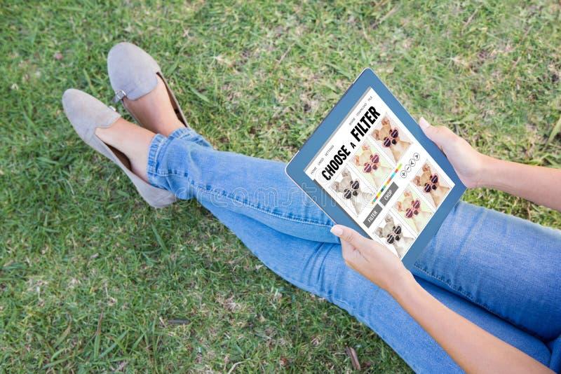 Imagem composta do menu do app do smartphone imagem de stock royalty free