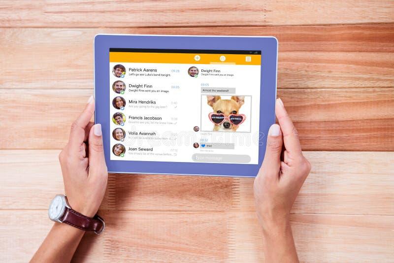 Imagem composta do menu do app do smartphone foto de stock