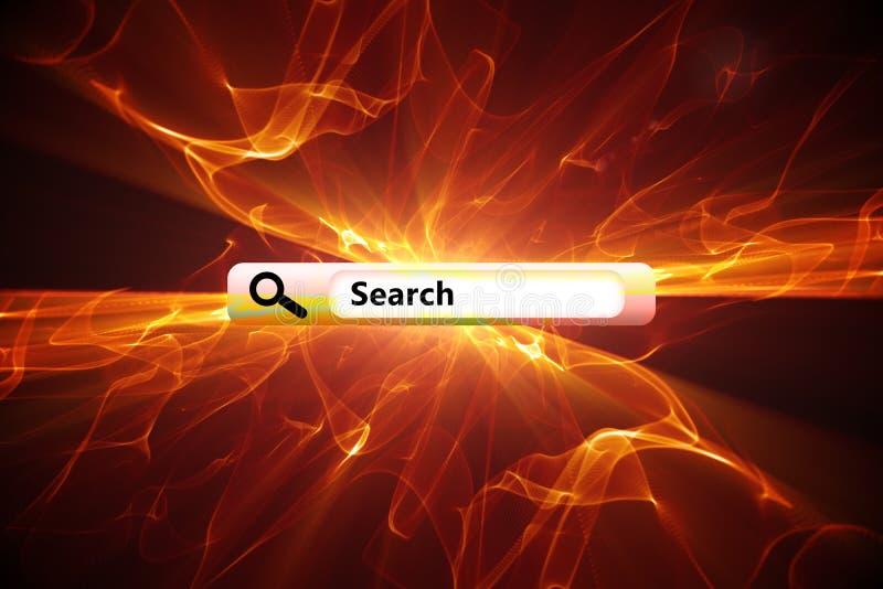 Imagem composta do Search Engine fotografia de stock