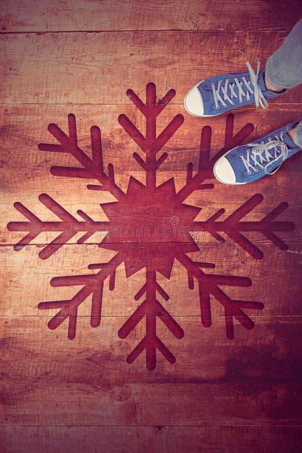 Imagem composta dos calçados casuais imagens de stock royalty free