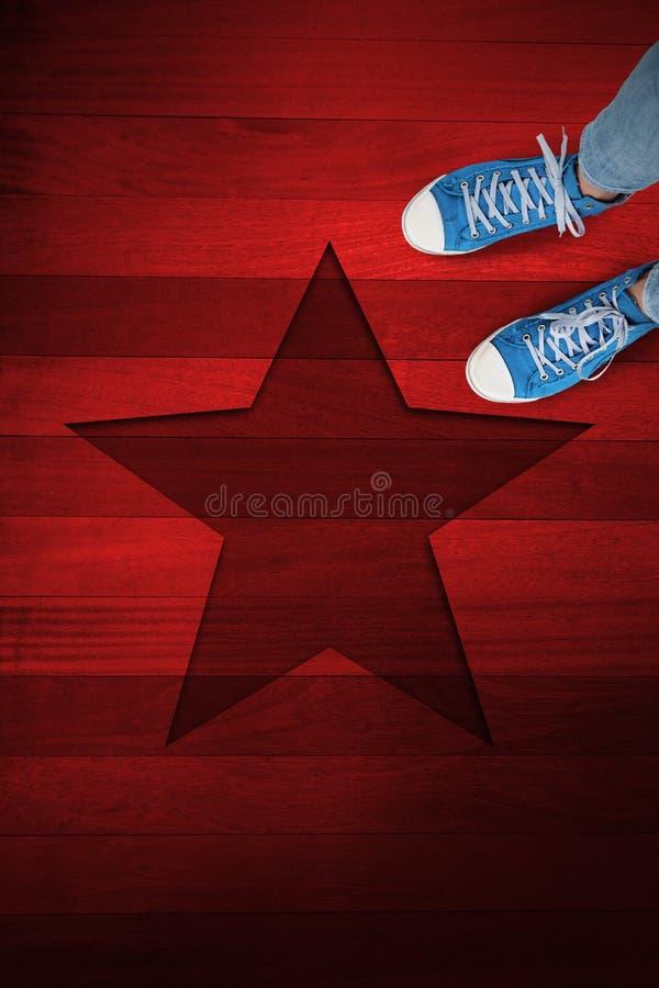 Imagem composta dos calçados casuais foto de stock royalty free
