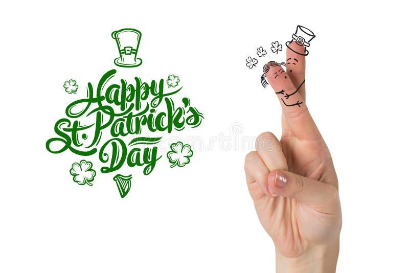 Imagem composta dos dedos do dia dos patricks ilustração royalty free