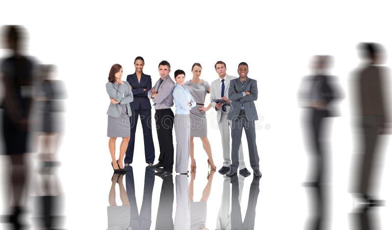 Imagem composta dos executivos imagens de stock royalty free