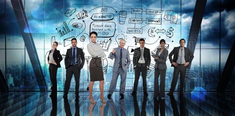 Imagem composta dos executivos fotografia de stock royalty free