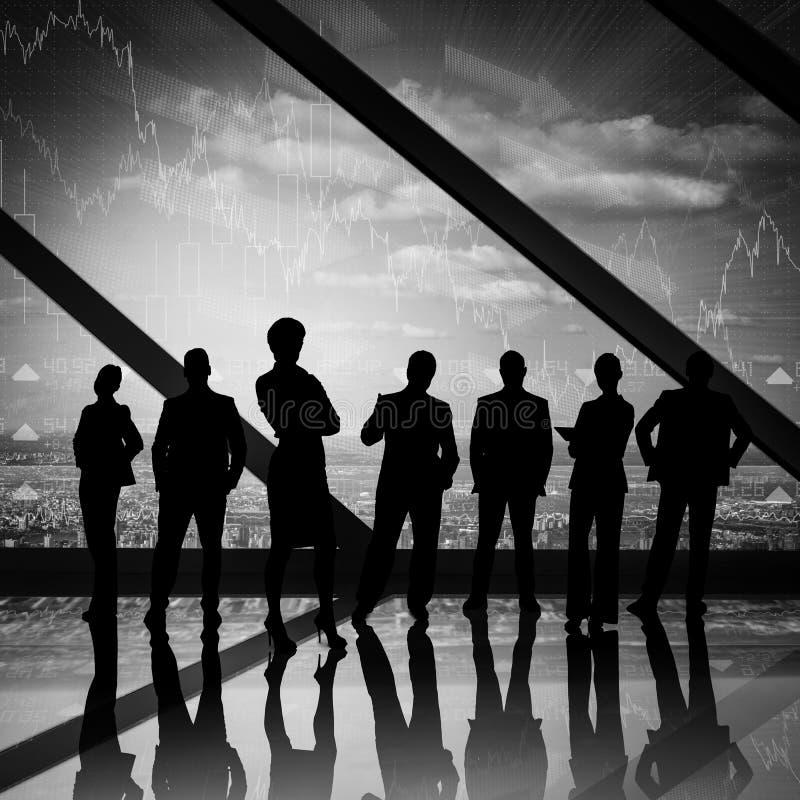Imagem composta dos executivos imagens de stock