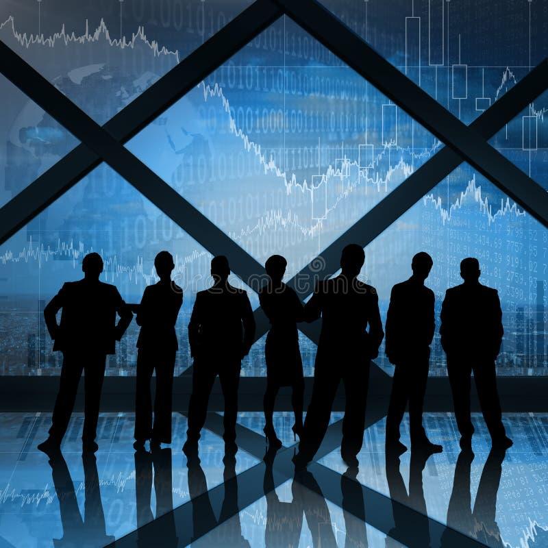 Imagem composta dos executivos fotos de stock