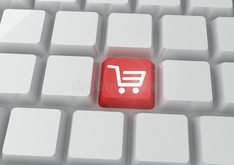 Imagem conceptual da compra em linha ilustração do vetor