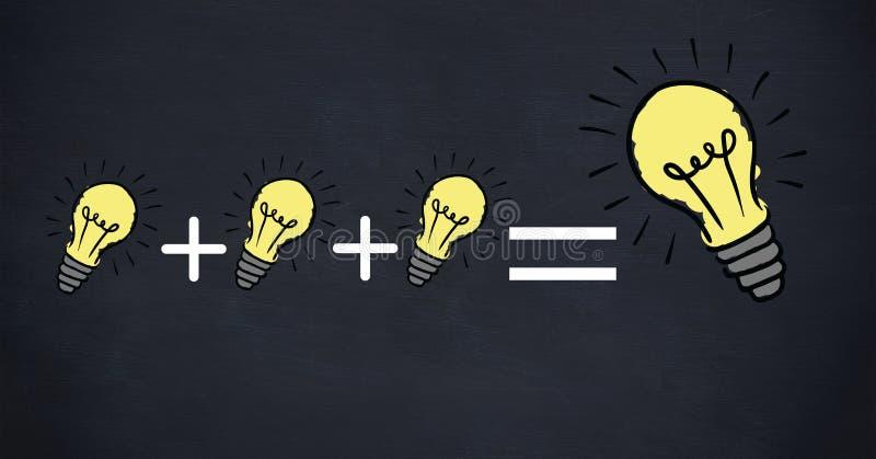 Imagem conceptual da eficiência de poder ilustração stock