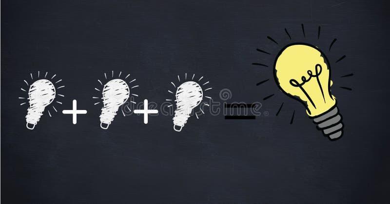 Imagem conceptual da eficiência de poder ilustração do vetor