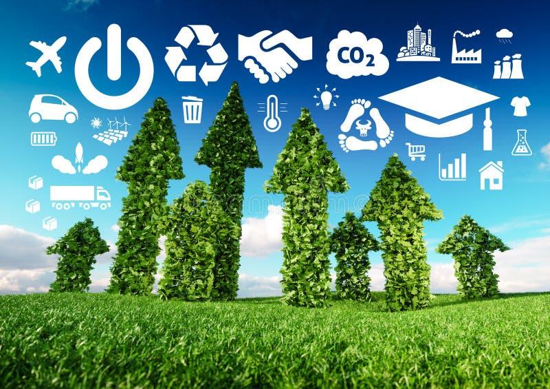 Imagem conceptual do desenvolvimento sustentável ilustração 3d do fre ilustração royalty free